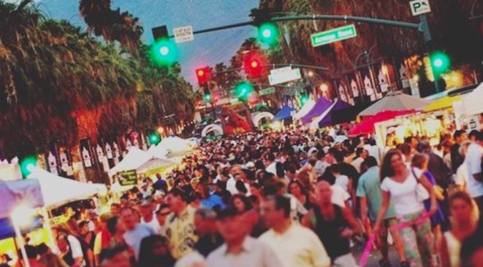 A big crowd at the Palm Springs VillageFest Street Fair