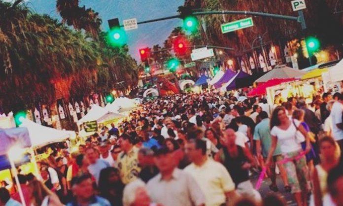 A big crowd at the Palm Springs VillageFest Street Fair