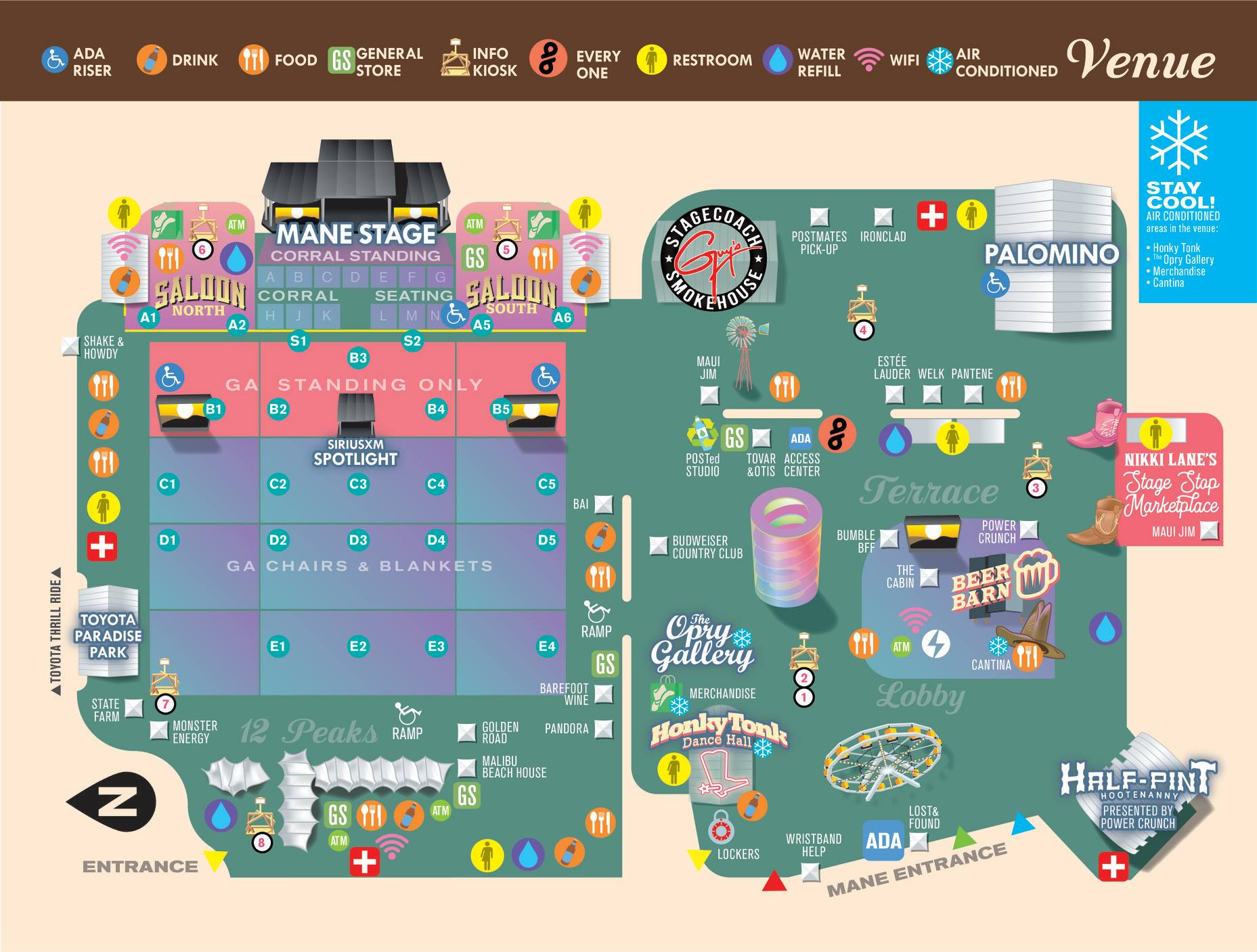 Stagecoach Country Fest: Here are your maps of the festival