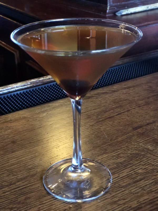 A Manhattan at Paul Bar in Palm Springs