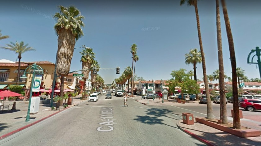 Downtown Palm Springs Map on