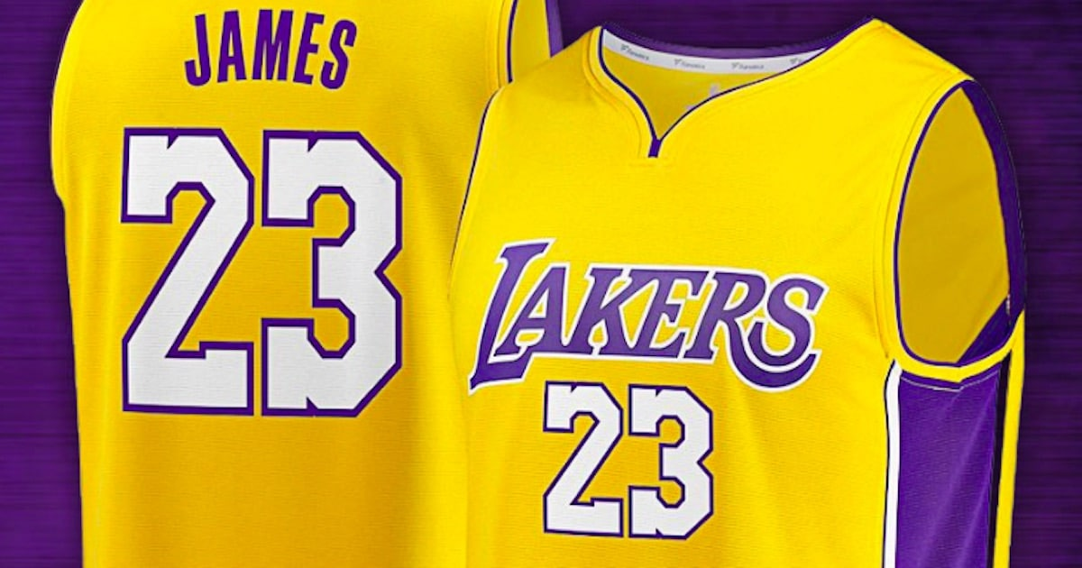 8f1fdd3315e LeBron James Lakers jersey are selling like crazy