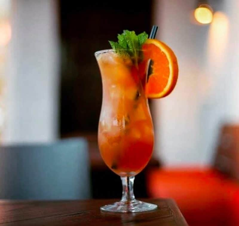 A Mai Tai from Bootlegger Tiki - its what to drink in Palm Springs
