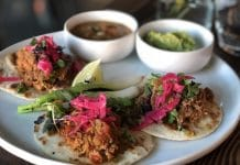 Pork Tacos served at Chula in La Quinta
