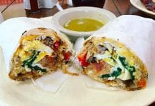 Serrano's Juice Bar in Indio serves some of the best breakfast in Indio including this breakfast sandwich