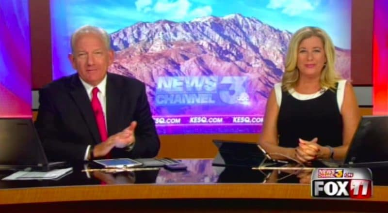 Karen Devine and John White seem really excited about the big changes at KESQ