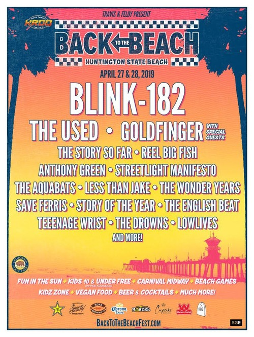 Back to the Beach fest lineup: blink-182, Goldfinger, The