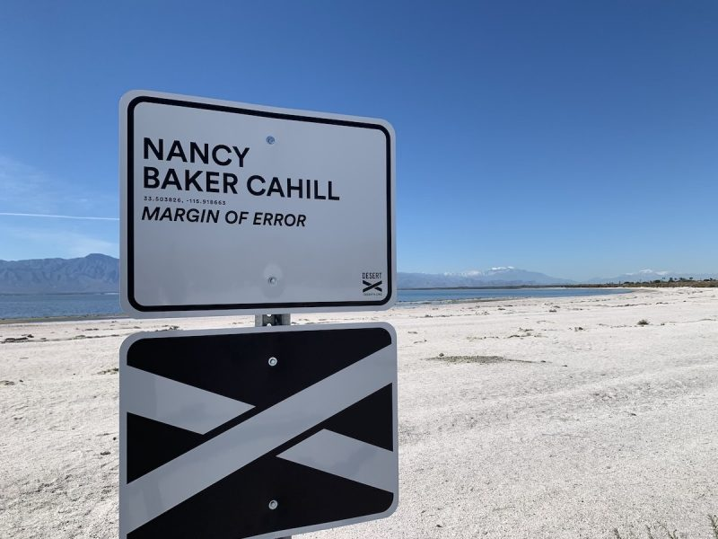 Nancy Baker Cahill Desert X sign