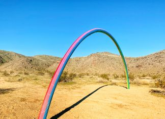 Lover's Rainbow, a 2019 Desert X art installation in Rancho Mirage