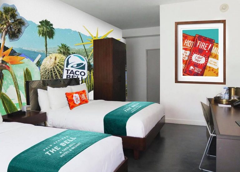 Here's all the info on the Palm Springs Taco Bell Hotel
