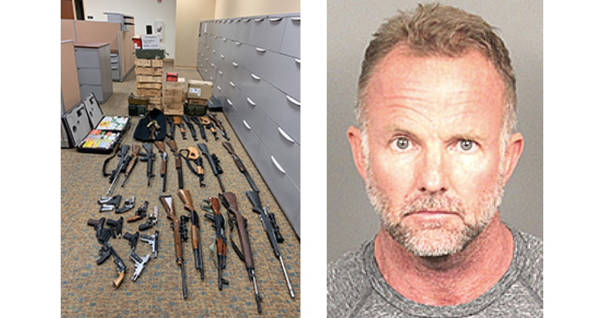 Domestic violence call leads to seizure of 31 firearms, 10,000 rounds of ammo in Indio